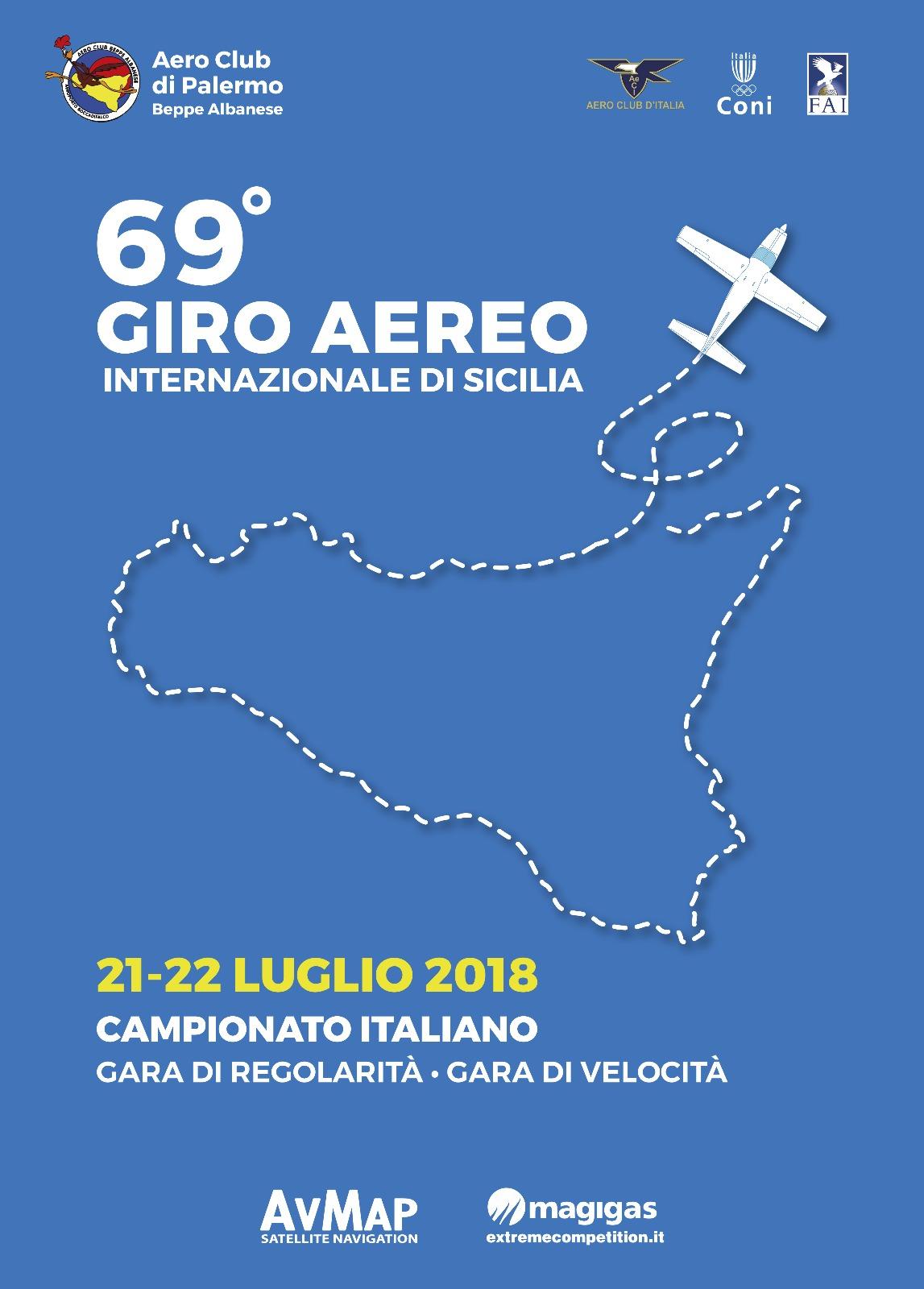 Calendario Rally Sicilia 2020.69 Giro Aereo Internazionale Di Sicilia Aero Club D Italia
